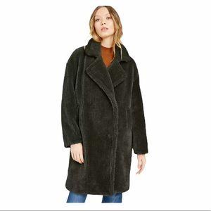 Michael Michael Kors Faux Fur Olive Coat NWT